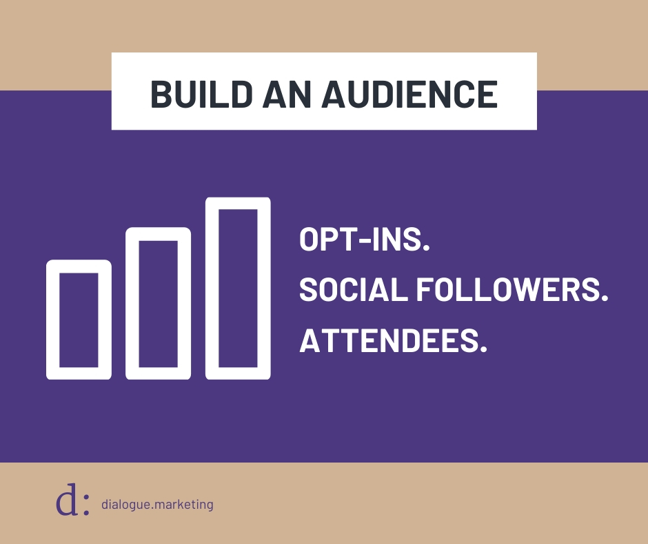 Content Marketing Metrics - Goal is to Build an Audience