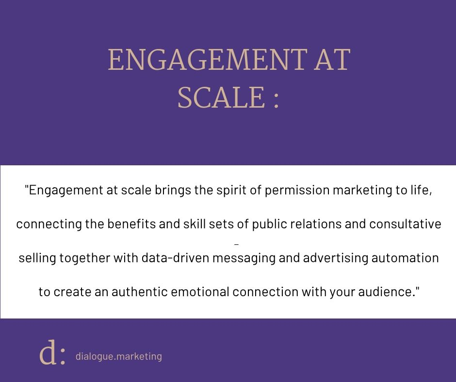 Dialogue engagement at scale brings the spirit of permission marketing to life