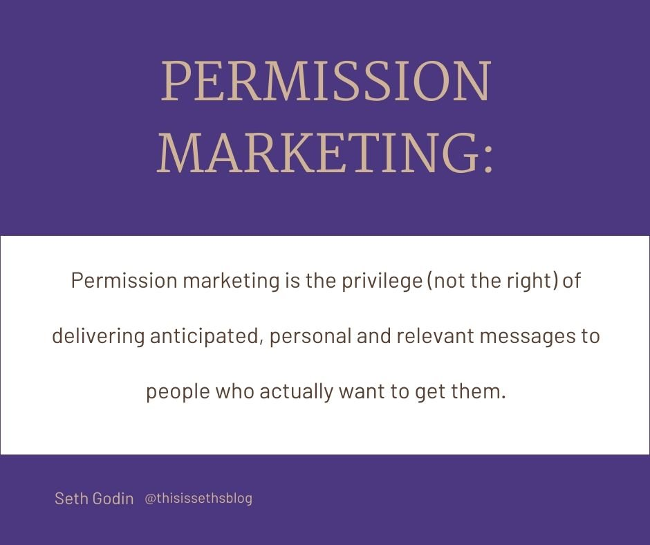 What is permission marketing by Seth Godin