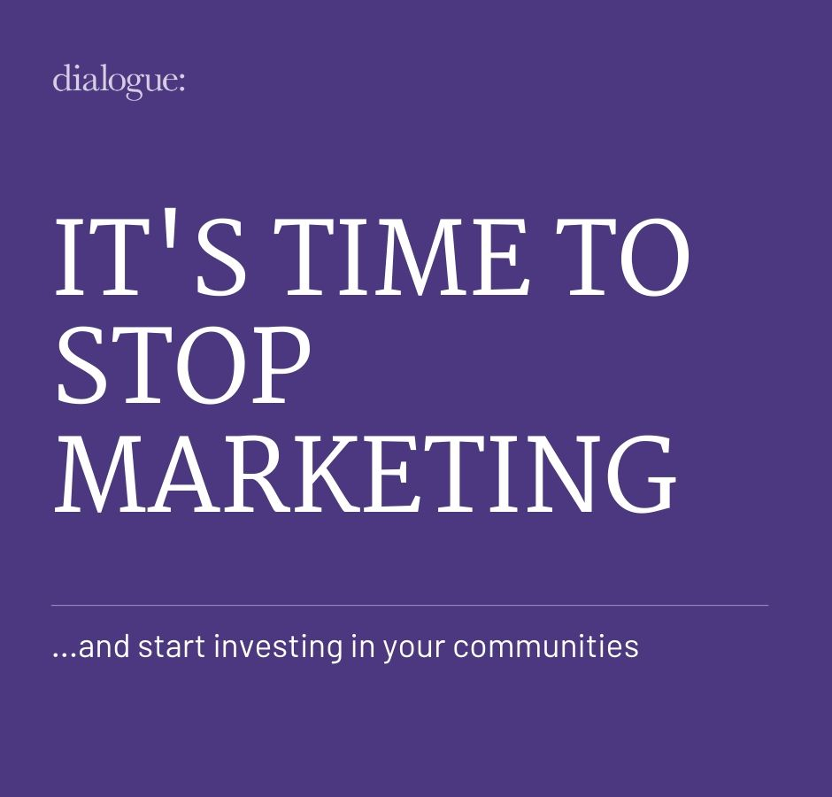 Time to Stop marketing