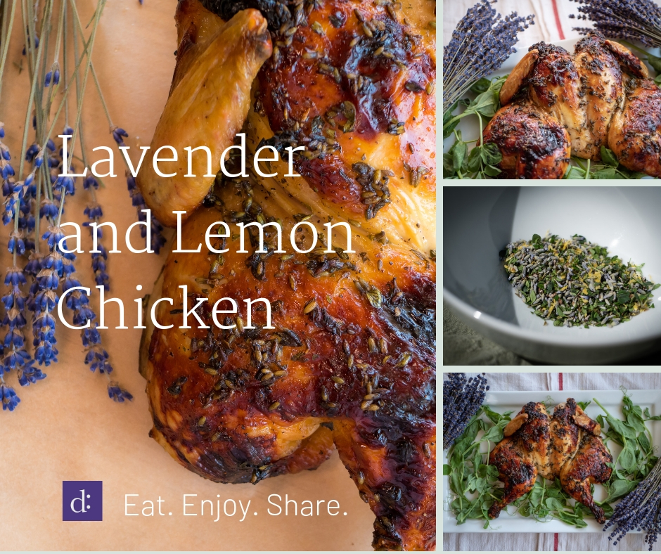 Lavendar and Lemon Chicken Recipe Featured Image