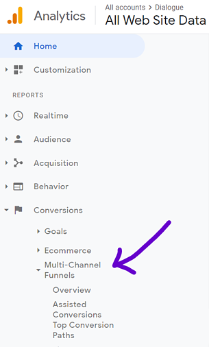 google analytics multi channel funnels