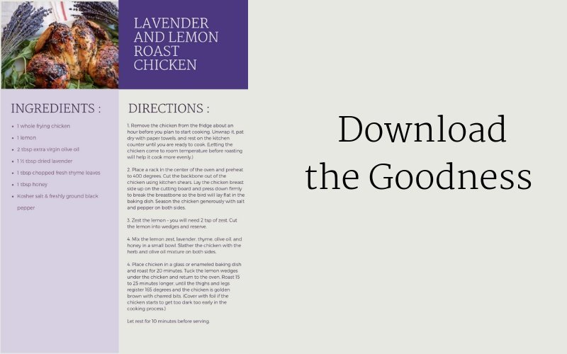 Dialogue Engagement Agency Lavender and Lemon Chicken Recipe